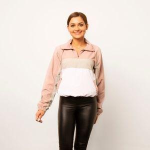 Amber Color Block Nylon Jacket